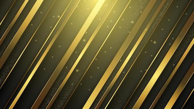Luksusowy streszczenie tło ze złotym wykończeniem.
