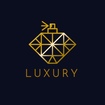 Luksusowy styl logo perfum