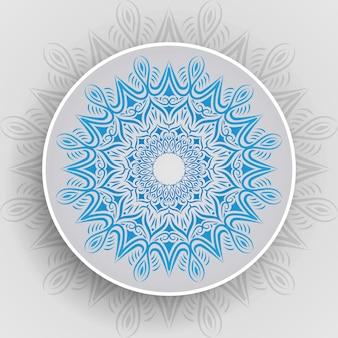 Luksusowy stylowy mandala tło wektor