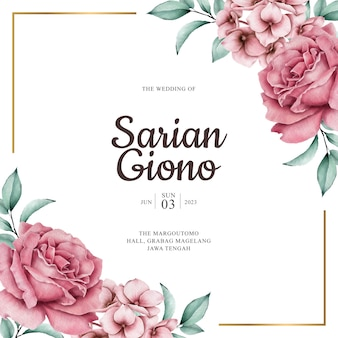 Luksusowy szablon karty ślubu