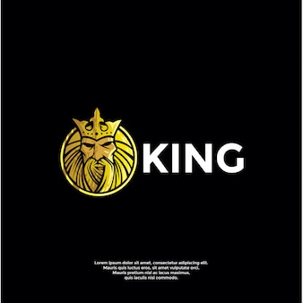 Luksusowy szablon logo króla