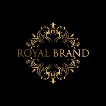 Luksusowy szablon logo. logo z projektem ze złotym luksusowym ornamentem.