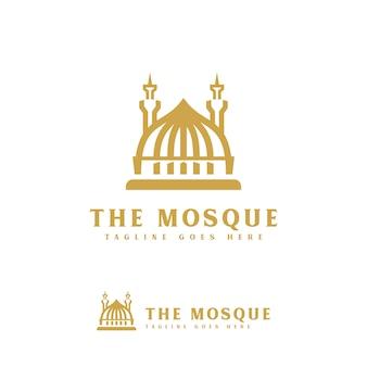 Luksusowy szablon logo meczetu ramadan