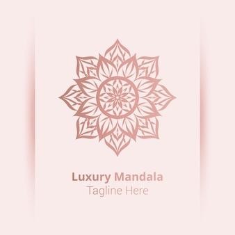 Luksusowy szablon logo ozdobnych mandali
