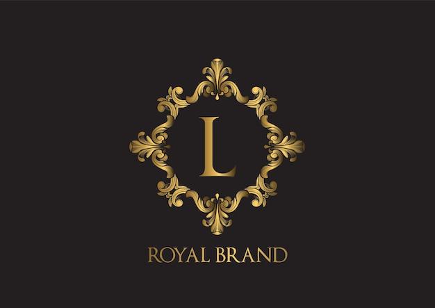 Luksusowy szablon logo.