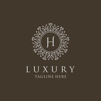Luksusowy szablon logo