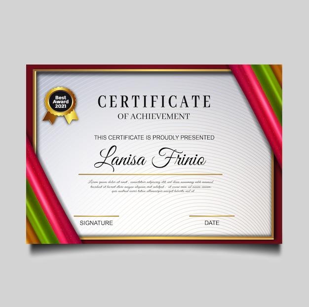 Luksusowy szablon osiągnięcia certyfikatu