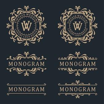 Luksusowy szablon projektu logo