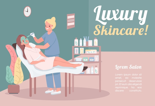 Luksusowy szablon transparent do pielęgnacji skóry
