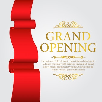 Luksusowy szablon transparent grand opening