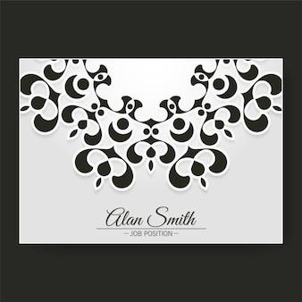 Luksusowy szablon wizytówki z projektem ornaments