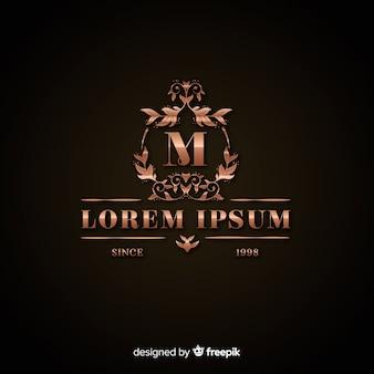 Luksusowy szablon złote logo