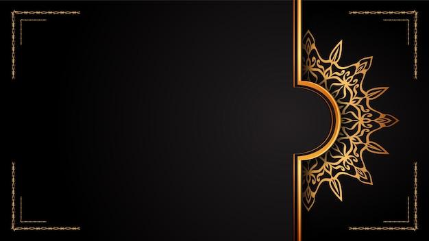 Luksusowy sztandar mandali, styl arabeski.