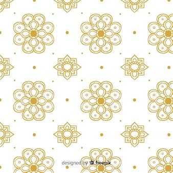 Luksusowy tajski wzór w złotym stylu