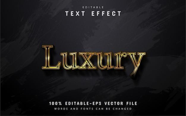 Luksusowy tekst, efekt tekstowy w stylu złota