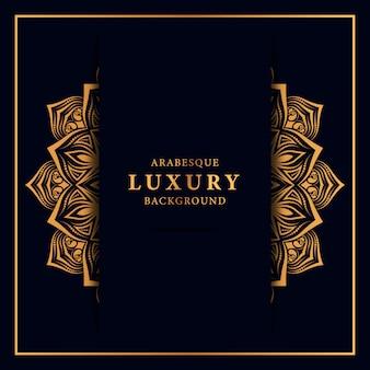 Luksusowy tło mandali z arabeska złoty wzór islamski