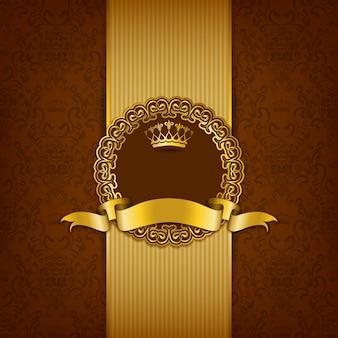 Luksusowy tło z ornamentem
