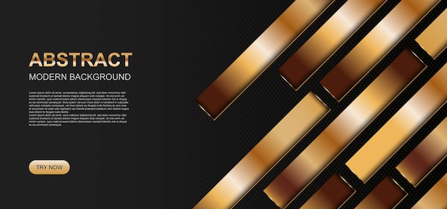Luksusowy transparent tło w złote paski. abstrakcyjne tło. ilustracja wektorowa.
