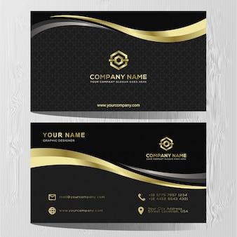 Luksusowy wizytówki złoty i srebrny szablon