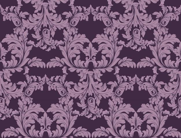 Luksusowy wystrój barokowy ornament wektor. tekstury tła w stylu barokowym