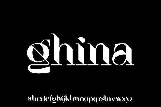 Luksusowy wyświetlacz nowoczesny zestaw alfabetu czcionki