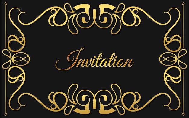 Luksusowy wzór tła w stylu ozdobnego zaproszenia