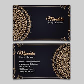 Luksusowy zestaw kart ślubnych elementu mandali