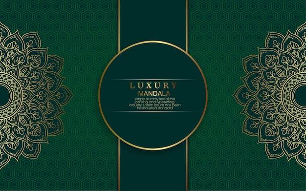 Luksusowy złoty arabeska mandali tło.