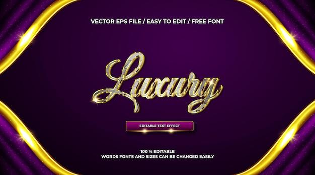Luksusowy złoty efekt tekstu 3d