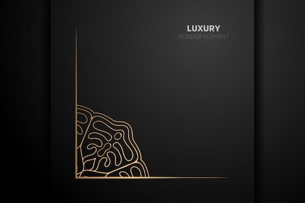 Luksusowy złoty element obramowania z ornamentem