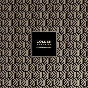 Luksusowy złoty geometryczny wzór, abstrakta deseniowy tło