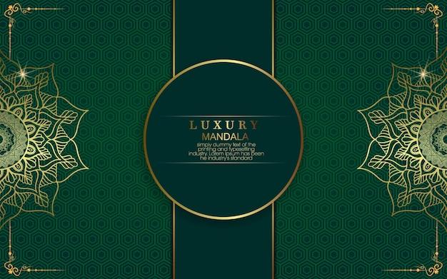 Luksusowy złoty kwiecisty tło mandali