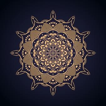 Luksusowy złoty mandali tło