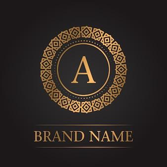 Luksusowy złoty monogram szablon