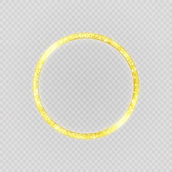 Luksusowy złoty pierścionek. okrąg.