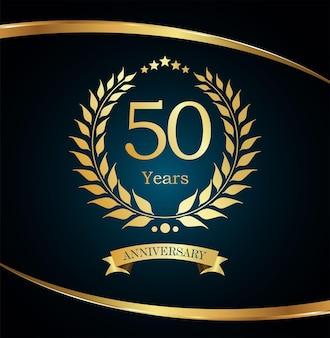 Luksusowy złoty projekt wieniec laurowy z okazji rocznicy