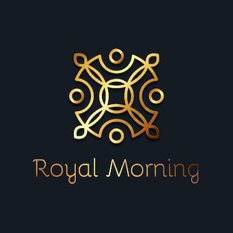 Luksusowy złoty szablon logo