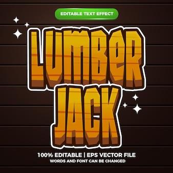 Lumber jack edytowalny efekt tekstowy w stylu komiksowym