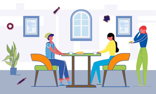 Lunch studencki w bufecie uniwersyteckim lub studenckim.