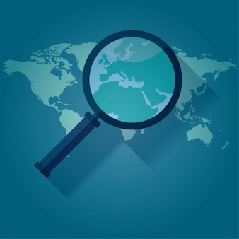 Lupa na mapie świata