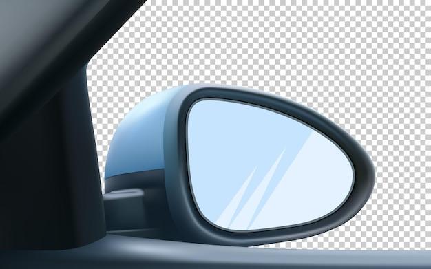 Lusterko wsteczne po prawej stronie pasażera ilustracja