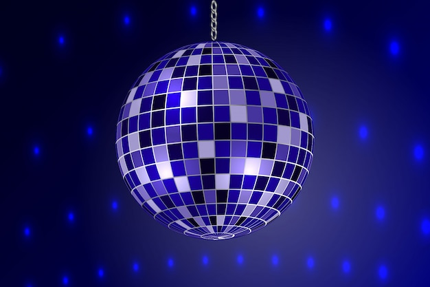 Lustro disco ball na białym tle.