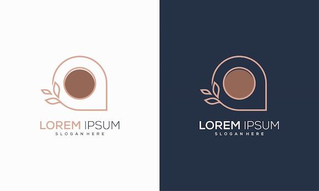 Luxury nature point place logo projektuje wektor koncepcyjny, logo farm agriculture projektuje ilustracji wektorowych