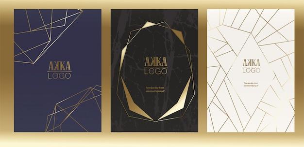Luxury premium menu cover design geometryczny