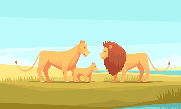 Lwa natury rolny tło