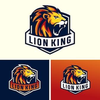 Lwy głowy sport logo obrazu