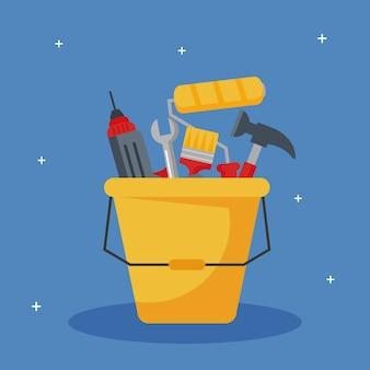 Łyżka narzędzi budowlanych