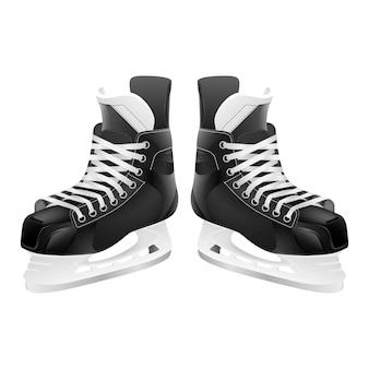 Łyżwy hokejowe, na białym tle.