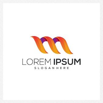 M nowoczesne logo ikona firmy