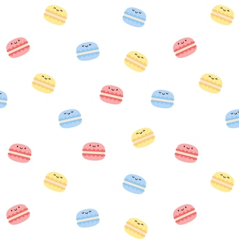 Macarons bezszwowe tło wzór